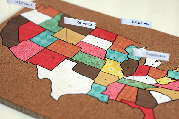 Crate DIY A Lesson In Geography Crate Paper - Us paper map