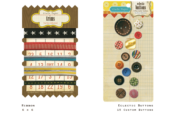 Ribbon&Buttonstoy box