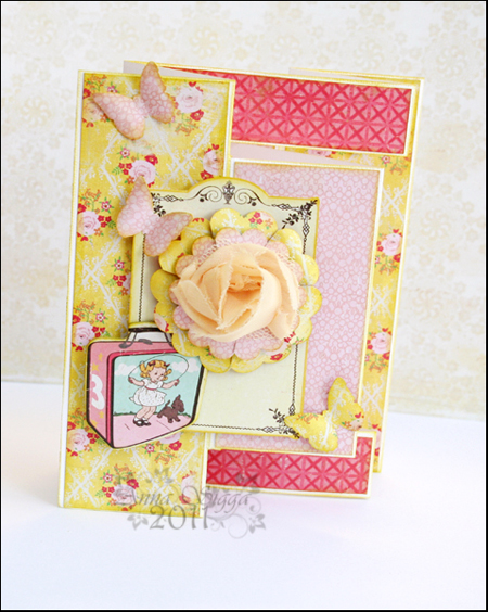 Trifold-flower card NM