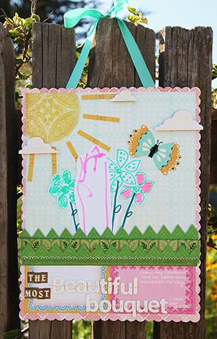 Amy Parker Crate Paper Beautiful Bouquet hanging for CP Blog