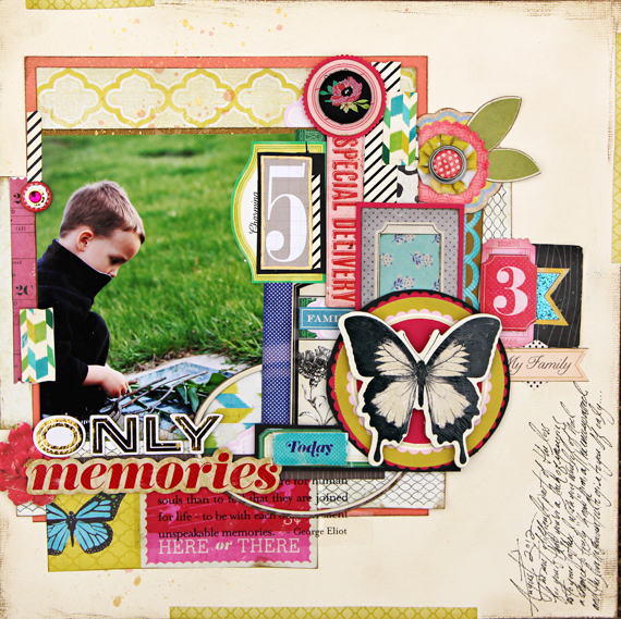 Christine Middlecamp - Only Memories Layout