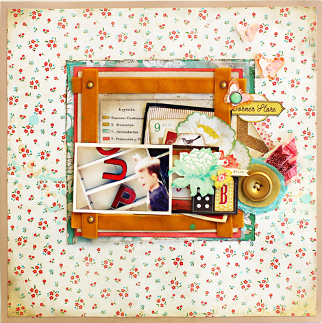 Letter Boutique Layout by Christine Middlecamp