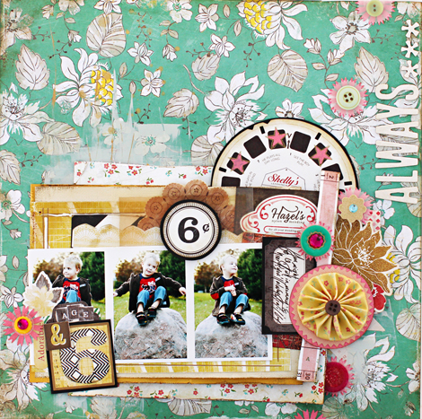Always Little Layout by Christine Middlecamp