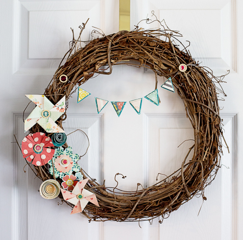 A Close Knit Decorative Wreath for the Home - Crate Paper