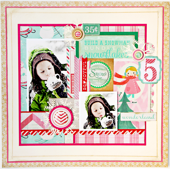 Christine Middlecamp - Bundled Up Crate Paper Layout
