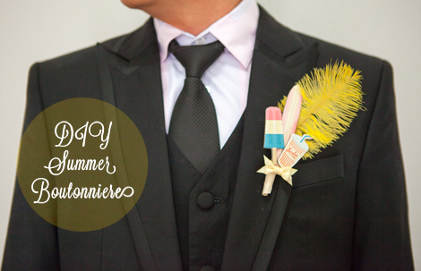 DIY Summer Boutonniere Cover by Evelynpy