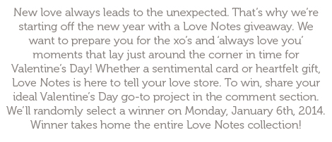 Love Notes Giveaway