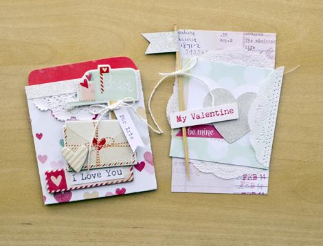 Valentine Notes I Love You Library Pockets