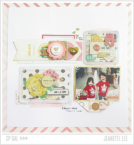 Crate Paper | Jeanette Lee | I Heart This Layout