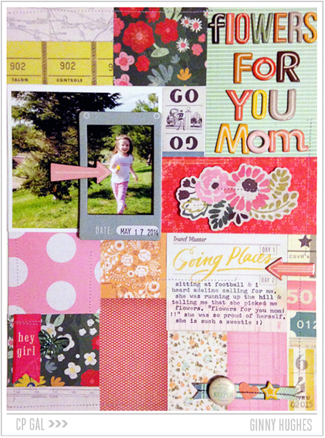 Crate Paper | Ginny Hughes | Flowers for Mom via the Open Road collection