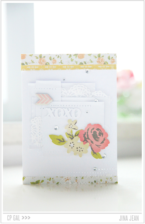 Crate Paper | Jina Jean | XOXO card using the CP collection Open Road