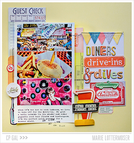 Diner and Dives from the stunning Open Road collection via Crate Paper - CP Gal Designer Marie Lottermoser