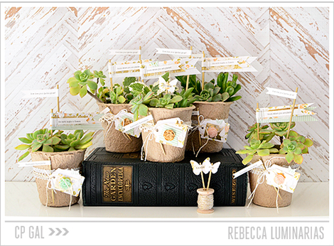 Crate Paper | Rebecca Luminarias | Spring Garden Containers