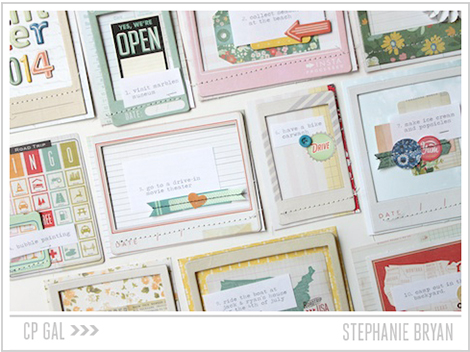 Crate Paper | Stephanie Bryan | Summer Garland Album Pages via Crate Paper's Open Road Collection