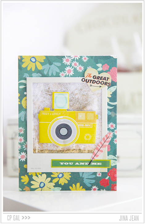 Crate Paper   Jina Jean  You and Me Card using the Crate Paper collection Open Road