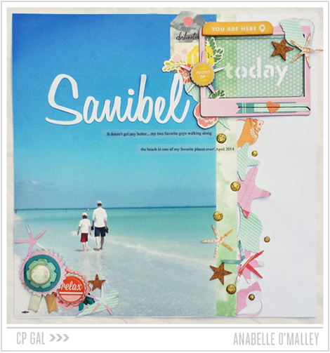 Crate Paper | CP Gal Anabelle O'Malley | Sanibel Layout via The Open Road collection