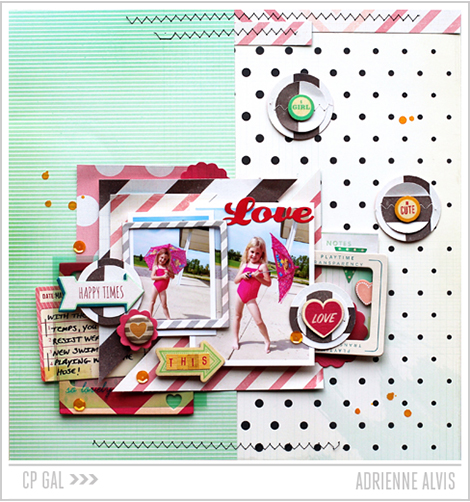 A Crate Paper Exploration of Dots and Stripes from CP Gal Adrienne Alvis