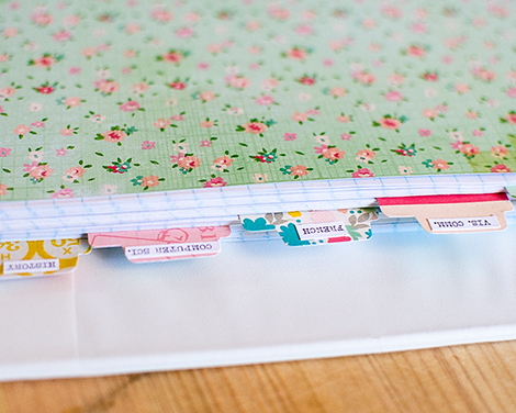 back to school cp project inspiration handmade notebook marie
