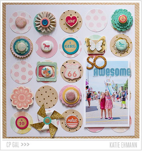 Crate Paper   CP Gal Katie Ehmann   So Awesome dotted layout using the beautiful Oh Darling collection