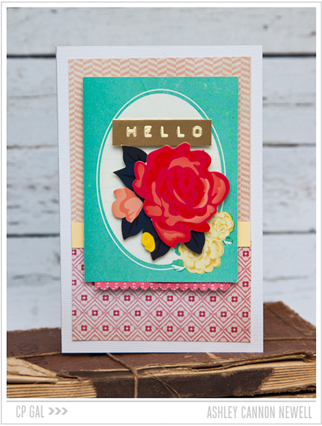 Crate Paper | CP Gal Ashley Cannon Newell | Hello Card via the Oh Darling collection