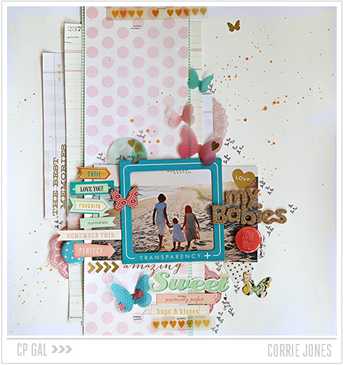 Crate Paper | CP Gal Corrie Jones | Beach Memories Layout