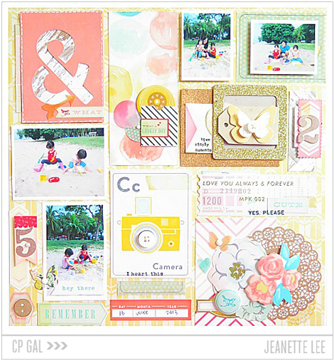 Crate Paper   CP Gal Jeanette Lee   A Day at the Beach using the Maggie Holmes' Styleboard collection