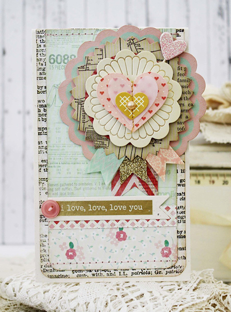Love You Handmade Card from Melissa Phillips at Crate Paper