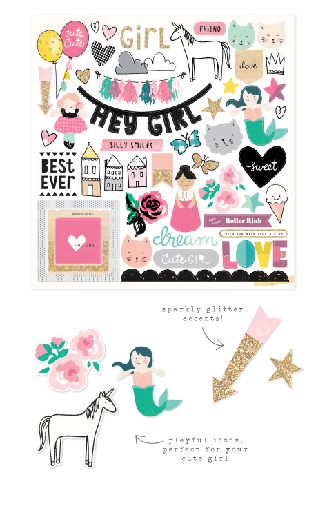 our newest collection cute girl crate paper