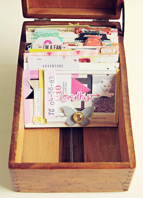Card Cabinet Redone via Crate Paper