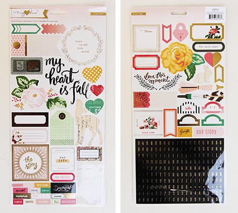Open Book Cardstock Stickers