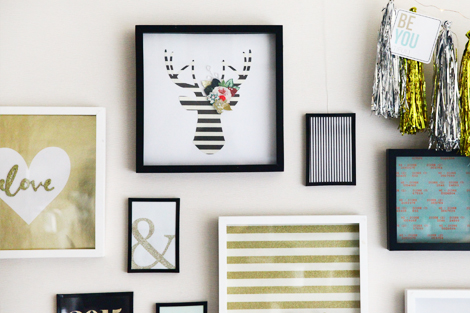 Crate DIY Holiday :: Gold & Silver Portrait Wall Gallery - Crate Paper