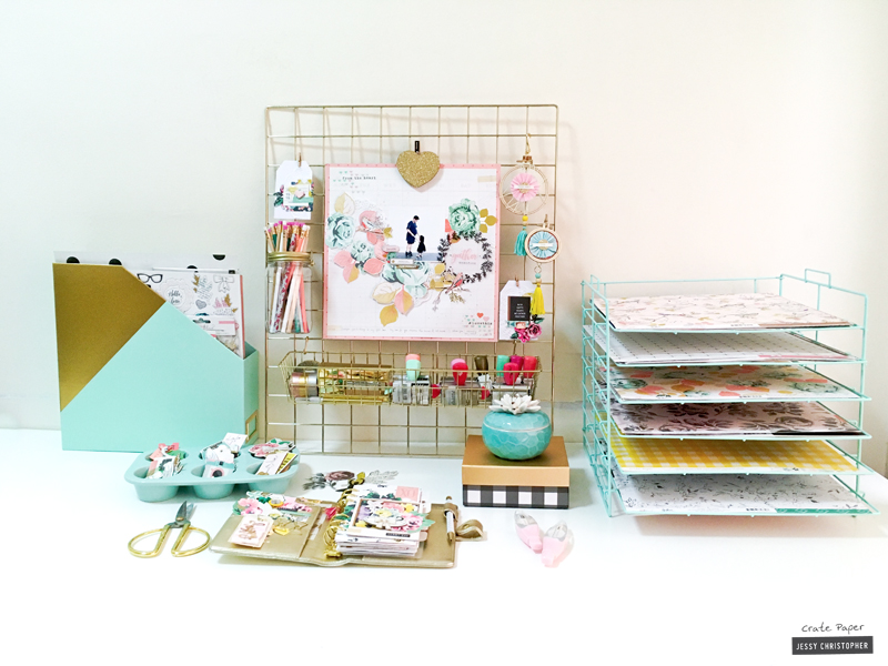 using craft + office storage as decor - crate paper Storage Ideas with Crates
