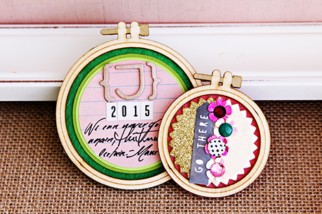 Two Crate Paper Wood Embroidery Hoops from the new collection Craft Market | CP Gal Christine Middlecamp