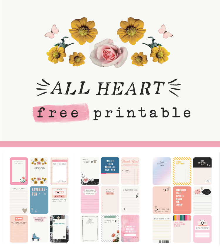 FREE Journal PRINTABLE from Crate Paper