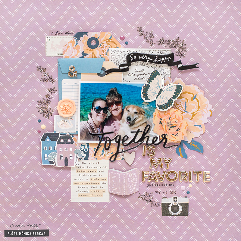 Scrapbooking For Beginners 5 Steps To Create A Scrapbook Layout Crate Paper